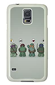 Samsung Galaxy S5 Funny Tmnt Teenage Mutant Ninja Turtles PC Custom Samsung Galaxy S5 Case Cover White