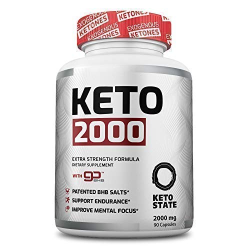 Keto State 2000mg goBHB :: Patented goBHB Beta-Hydroxybutyrate :: Premium Keto Supplement :: Formulated to Enter Perfect Ketosis, Enhance Mental Focus & Clarity - 30 Day