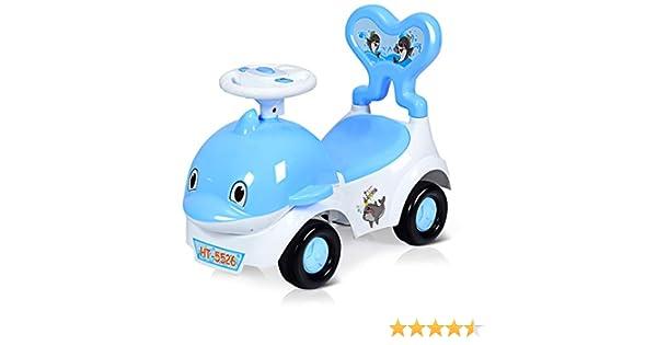 Baby Joy Baby 3 In 1 Ride On Low Seat Car Toy Walker Sliding Car Cartoon Design Pushing Cart With Sound Light Safe Brake Anti Falling