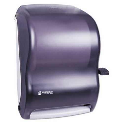 San Jamar T1100TBK Black Pearl Lever Roll Towel Dispenser without Auto Transfer