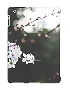 Tpu Case Cover Design Compatible For Ipad 2/3/4/ Hot Case/ White Blossoms