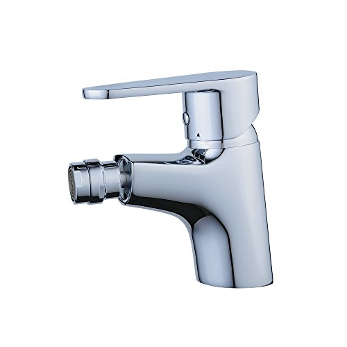 Handle Centerset Bidet Faucet - Beelee BL6787 Bath Bidet Faucet Single Hole with Metal Lever Handle