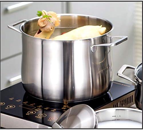 WYJBD Marmite à Soupe - 304 Soupe en Acier Inoxydable Pot Grande capacité des ménages Épaississement Approfondir Haute Marmite Porridge Marmite Soupe Insurrection Pot
