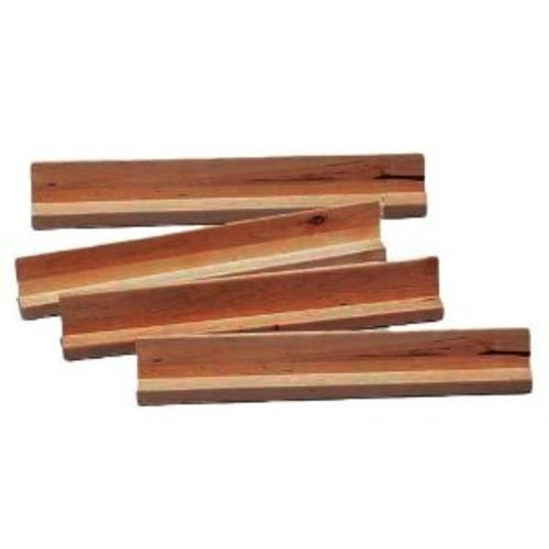 Set of 4 Large Wooden Domino Game Racks
