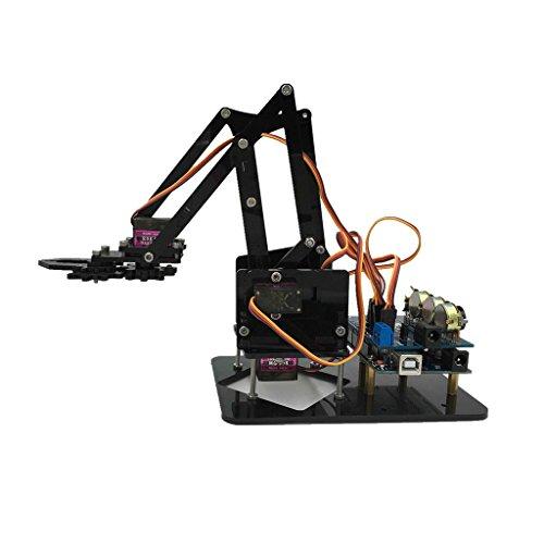 D DOLITY 4 Grados De Libertad Brazo Mecánico Robot De 4 Ejes Con 4 Servos Para Arduino Kits De Bricolaje Juguete De Ciencia
