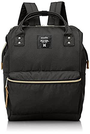 Anello Polyester Canvas Backpacks (Large Size) Japan import (Black)