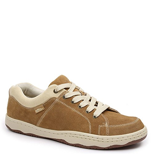 Simple Men's Pipeline-1 Lace Up Sneakers, Taupe Suede, 7 M