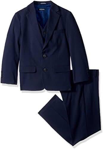 Nautica Big Boys' Glen Plaid 3 Piece Suit with Stretch Fabric