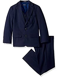 Nautica Big Boys' Glen Plaid 3 Piece Suit with Stretch...