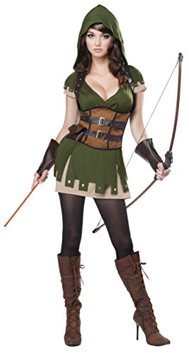 California Costumes Women's Lady Robin Hood, Olive/Brown,