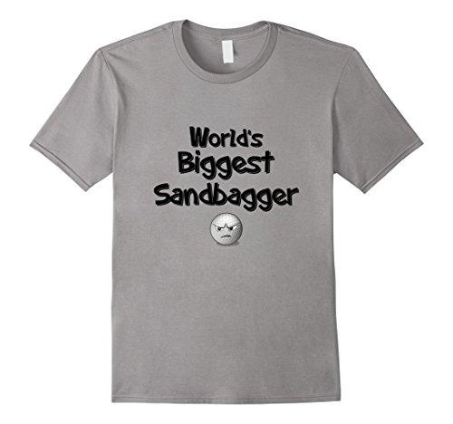 Mens World's Biggest Sandbagger Funny Humorous Golf T-Shirt XL Slate Biggest Golf