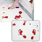 """Blood Bath - Bath / Floor Mat (Size: 24"""" x 16"""") (Bathmat) (Bloody Foodtsteps)"""