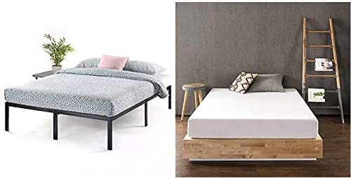 Best Price Mattress 14 Inch Metal Platform Beds w/ Heavy Duty Steel Slat Mattress Foundation No Box Spring Needed