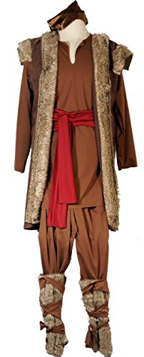 CL COSTUMES Stage-Panto-Theatre-World Book Day Frozen kristoff Viking Men's Costume - All Sizes (Musical Theatre Costumes To)