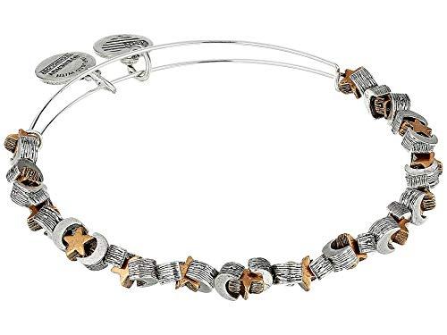 Alex and Ani Moon and Star Two-Tone Beaded Bangle Bracelet (Star Moon Bracelet)