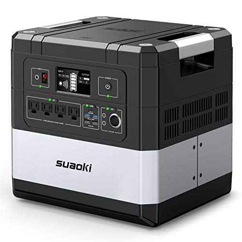 SUAOKI UPS Power Station, G1000 Portable Power Supply 1183Wh Silent Gas Free Generator LiFePO4 Battery Pack with 1000W 2000W Surge AC Inverter, 60W Power Delivery USB C for Camping CPAP Power Outage