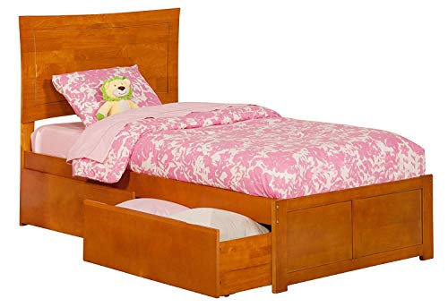 Atlantic Furniture AR9012117 Metro Platform Bed with 2 Urban Bed Drawers, Twin XL, ()