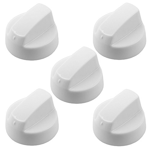Spares2go Universal White Control Knobs For All Makes And Models Of Stoves Oven Cooker & Hob (Pack Of 5 + 25 Adaptors)
