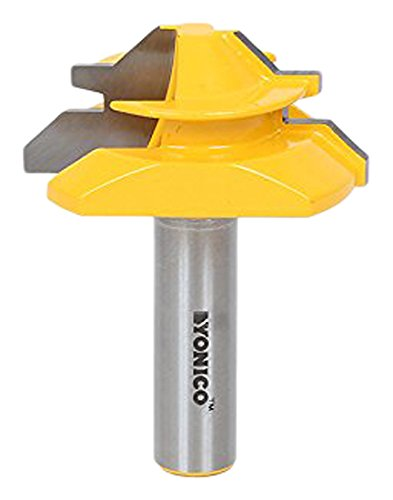 Yonico 15127 Medium Lock Miter Router Bit with 45-Degree 3/4-Inch Stock 1/2-Inch Shank by Yonico