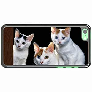 iPhone 5C Black Hardshell Case kittens sit sill Desin Images Protector Back Cover