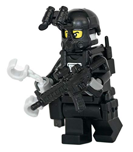 Modern Brick Warfare SWAT Police Officer M4A1 Rifleman Custom Minifigure