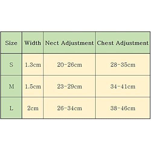 Chiguo Chiens Harnais Réglable Collier En Cuir PU Strass Pour Petits ou Moyens Grand Chien ou Chats Animaux (Rose M)