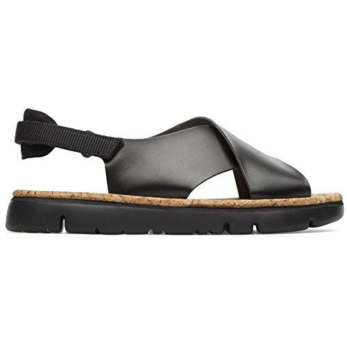 Camper Women's Oruga Sandal, Black 2, 40 EU/10 M US