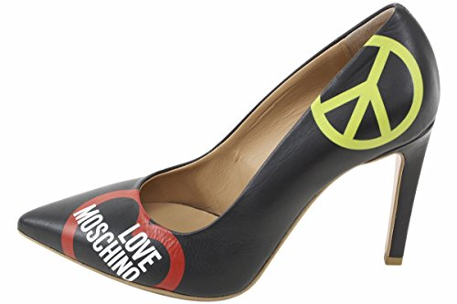Love Moschino Women's Black Leather Stiletto Heels Shoes Sz: 6 by Love Moschino (Image #1)'