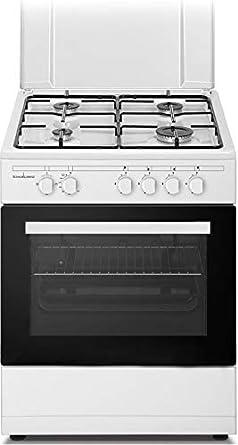 Cocina a gas con horno a gas con grill 60 x 60 cm: Amazon.es ...