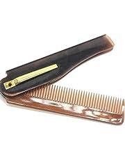 YUYDYU Katlanır Sakal Tarak Kuaför Güzellik Aracı Cep Mini Saç Fırçası Salon Stil Aletleri Erkekler ve Kadınlar için İnce Diş Sakal Saç Bakımı Tarak Bakım Fırçası