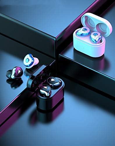 Chennong 【Bluetooth 5.0進化版】SLS TWSワイヤレスイヤホンBluetoothイヤホン自動ペアリング高品質充電ケース付き防水IPX5片耳/バイノーラルモードヘッドセットマイク内蔵ハンズフリー通話IOS Android対応(11色を選択) (Color : Blue)