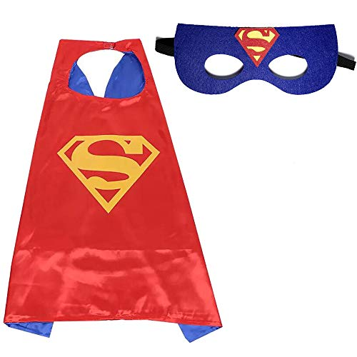 Halloween Costumes, Superhero Children's Cloaks and Masks, Boys and Girls Holiday Costumes or Birthday Gifts -