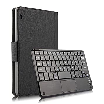 Amazon.com: Huawei MediaPad T3 10 9.6 Inch Case Keyboard Case + Leather Case with Removable Detachable Quiet Wireless USA Keyboard Built-in Stand Slim Cover ...