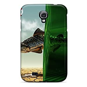 (Ape1512AOVK)durable Protection Cases Covers For Galaxy S4(3d Fish Dream)