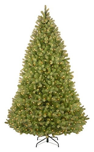 National Tree 9 Foot Bayberry Spruce Tree with 1000 Dual Color LED Lights and PowerConnect 9 Function System, Hinged (PEBY4-D51-90) -  ADULT