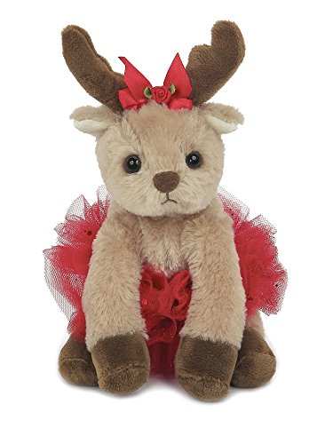 Bearington Darling Dancer Holiday Plush Stuffed Animal Ballerina Reindeer, 6 inches from Bearington Collection