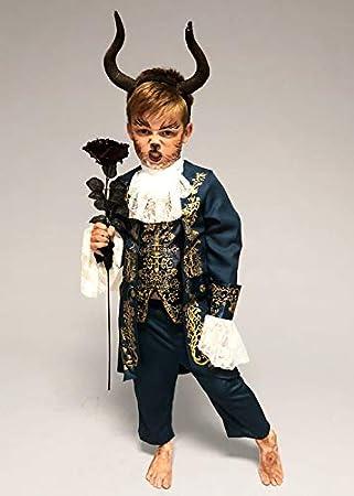 Magic Box Disfraz de Bestia con Cuernos para niños Large (7-8 ...