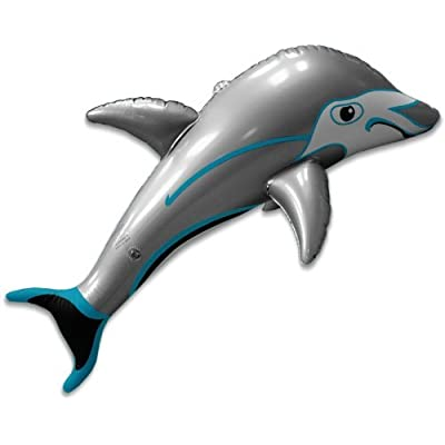 36 Inch Inflatable Gray Dolphin: Toys & Games