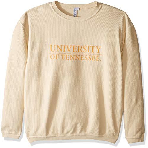 chicka-d Women's Corded Sweatshirt, Natural, ()