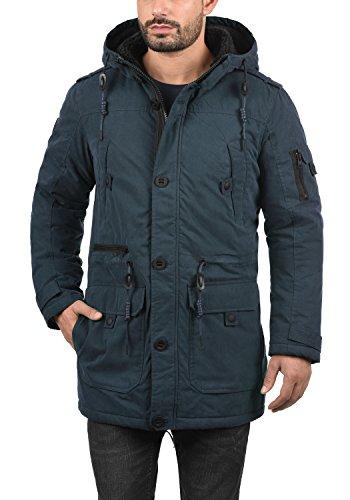 De D'hiver Pour Insignia Peau Parka Avec Manteau Blue 1991 Veste solid Mouton Longue Capuche Homme À Davido xESwqXtvg