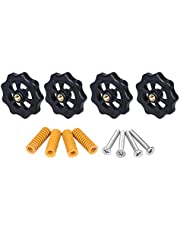 3D Printer Parts Heated Bed Spring Leveling Kit Adjustment Nut+Springs+ Screw Heatbed Kit For CR-10 Ender 3 MK3 Hotbed (Color : Yellow)