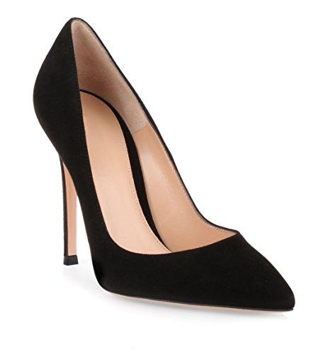 10 EDEFS Aiguille Escarpins Soiree Femme Talon CM Sexy Chaussures Club Fermés Noir 4wz4Xrxqg