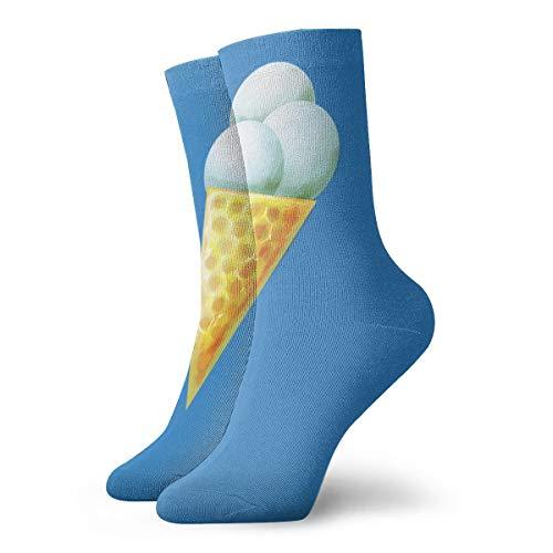 YUANSHAN Socks Fresh Ice Cream Cone Women & Men Socks Soccer Sock Sport Tube Stockings Length 11.8Inch -