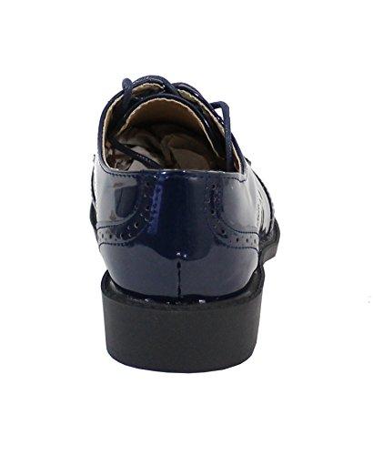 Mujer By de Zapatos cordones Shoes Azul para xXqSXw7rE