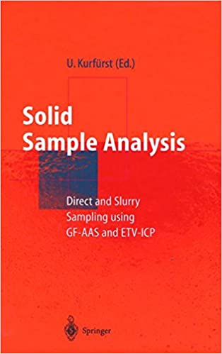 amazon com solid sample analysis direct and slurry sampling  solid sample analysis direct and slurry sampling using gf aas and etv icp 1998th edition