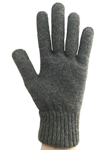 PossumDown Lightweight Brushtail Possum Merino Wool Blend Gloves (Medium, Riverstone)