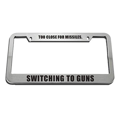 license plate frame pro gun - 4