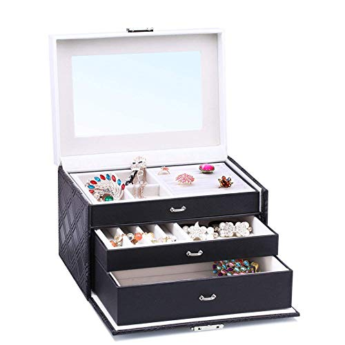 Jewellery Box Storage Removable Tray for Boxes Storage Case Color Matching with Lock Storage Jewelry Multifunction European Style Wooden ZHAOYONGLI
