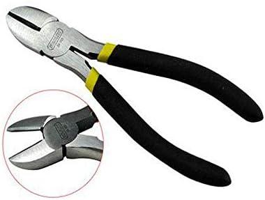WY-WY 家の修理に適した、すなわち屋外産業メンテナンス7インチブラックダブルプラスチック製のハンドルニッパーセット(カラー:ブラック、サイズ:5インチ) ラジオペンチ