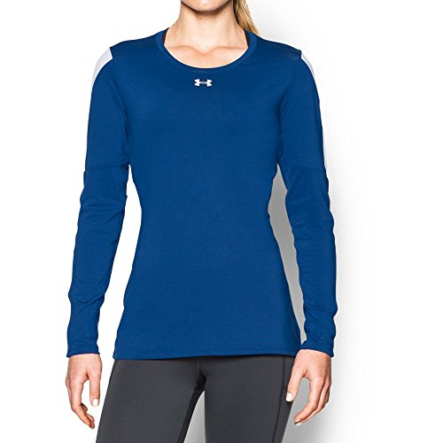Under Armour Womens UA Block Party Long Sleeve Jersey Royal/ White/ White